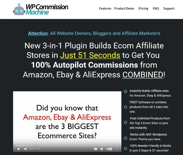 WP Commission Machine Amazon Ebay and AliExpress
