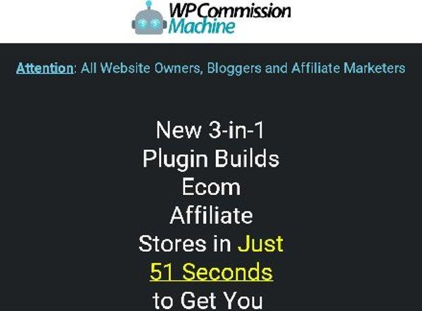 WP Commission Machine 3in1 Plugin